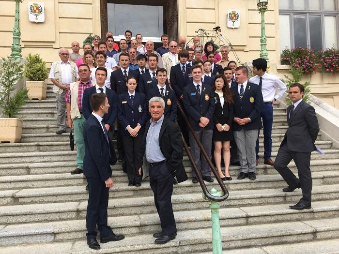 Cadets de l'air à la Mairie